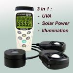 TM-208 : Datalogging 3 in 1 UVA Light Meter