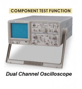 GOS-320T : Dual Channel Oscilloscope with Component Test Function